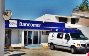 El banco después del asalto.