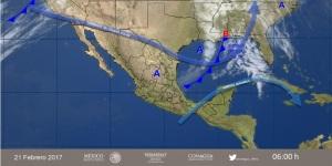 El Frente Frío número 29, a su paso por el Golfo de México.