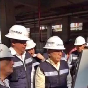 El gobernador visitó la construcción del nuevo hospital en Coatzacoalcos.