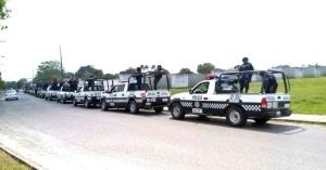Las policía en alerta en Las Choapas.
